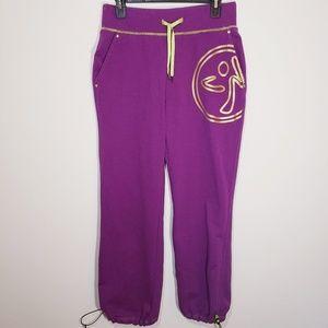 Zumba Purple Sweat Pants Size L